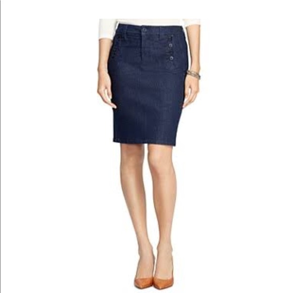 ba723f1f7d3 Lauren Ralph Lauren Stretch Denim Pencil Skirt.